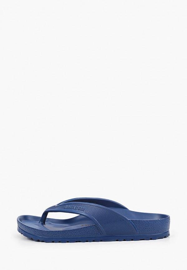женские сланцы birkenstock, синие