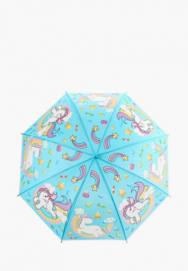 женский зонт-трости bradex, голубой