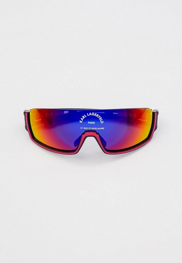 женские солнцезащитные очки karl lagerfeld, розовые