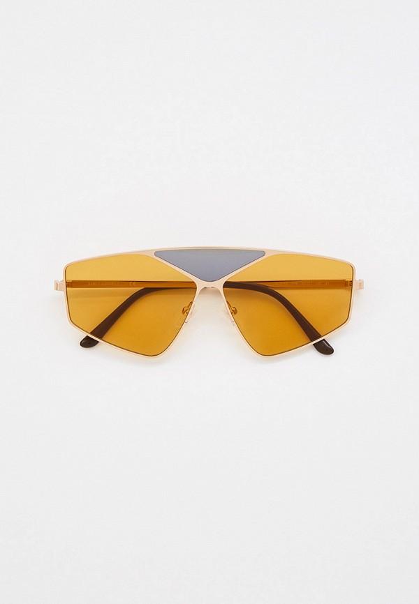 женские авиаторы солнцезащитные очки karl lagerfeld, золотые