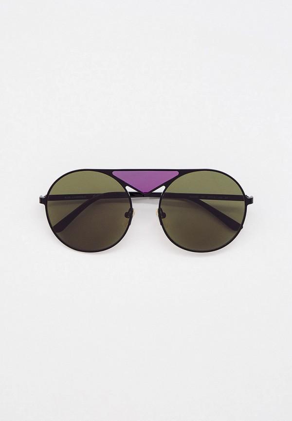 женские круглые солнцезащитные очки karl lagerfeld, черные