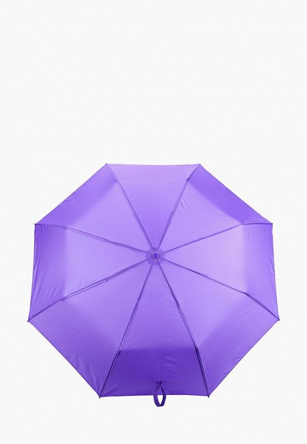 женский складные зонт zemsa, фиолетовый