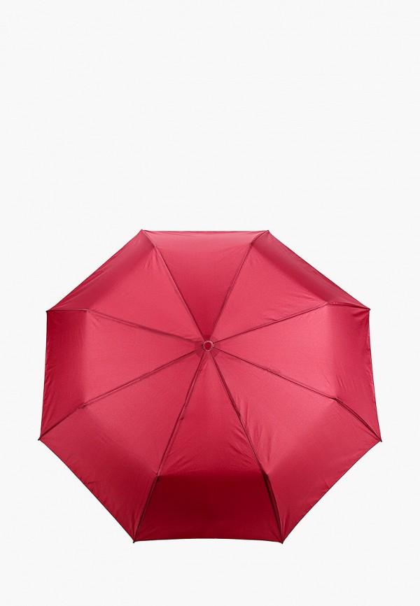 женский складные зонт zemsa, бордовый