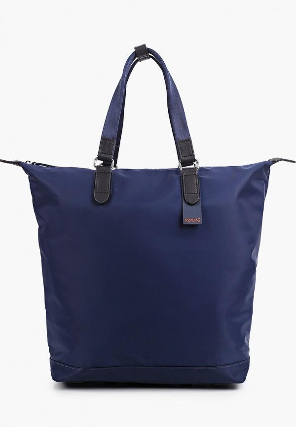 женская сумка-шоперы swims, синяя