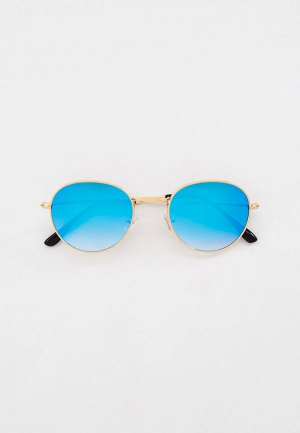 женские круглые солнцезащитные очки vitacci, золотые
