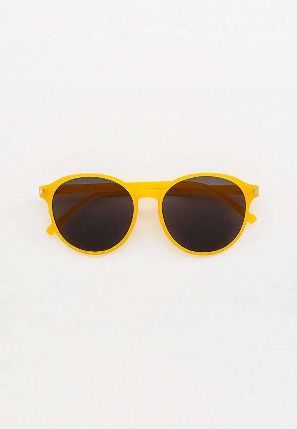 женские круглые солнцезащитные очки bocciolo, желтые