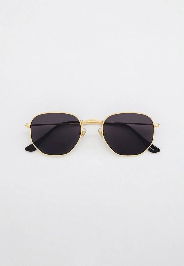 женские круглые солнцезащитные очки wow miami, золотые