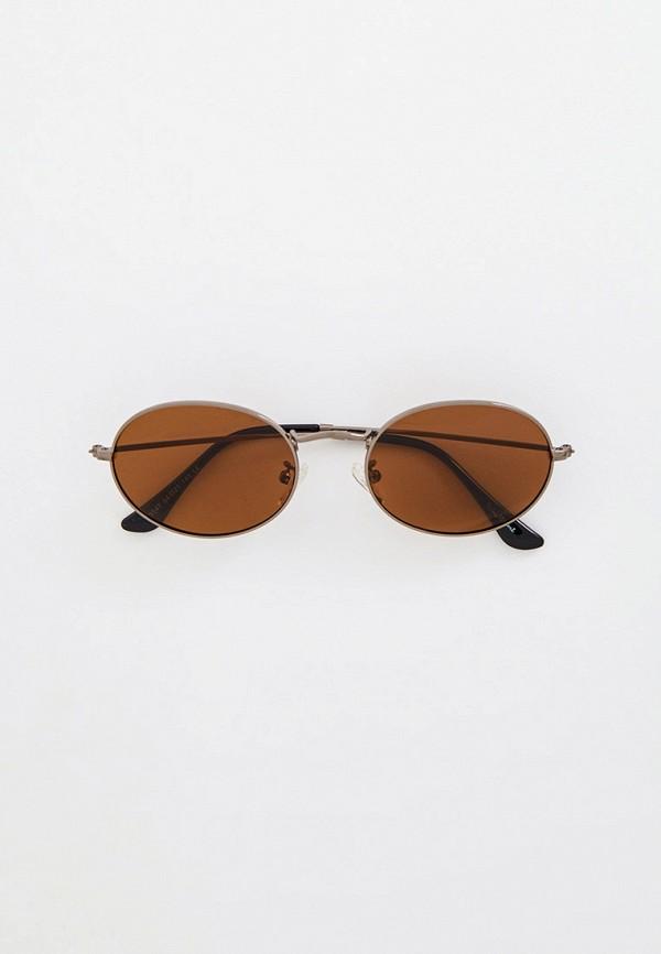 женские круглые солнцезащитные очки wow miami, серебряные