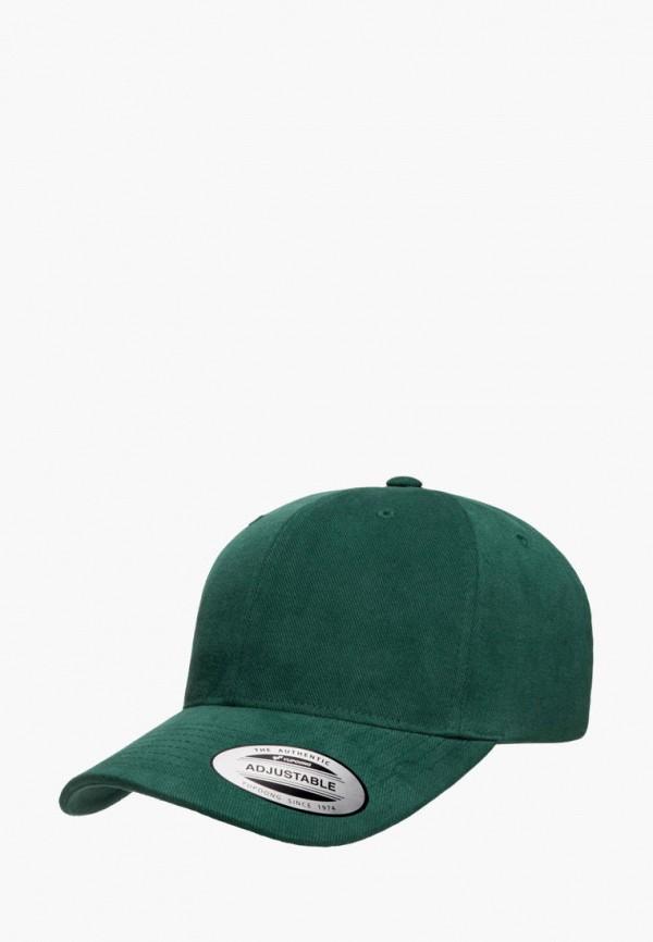женская бейсболка flexfit, зеленая