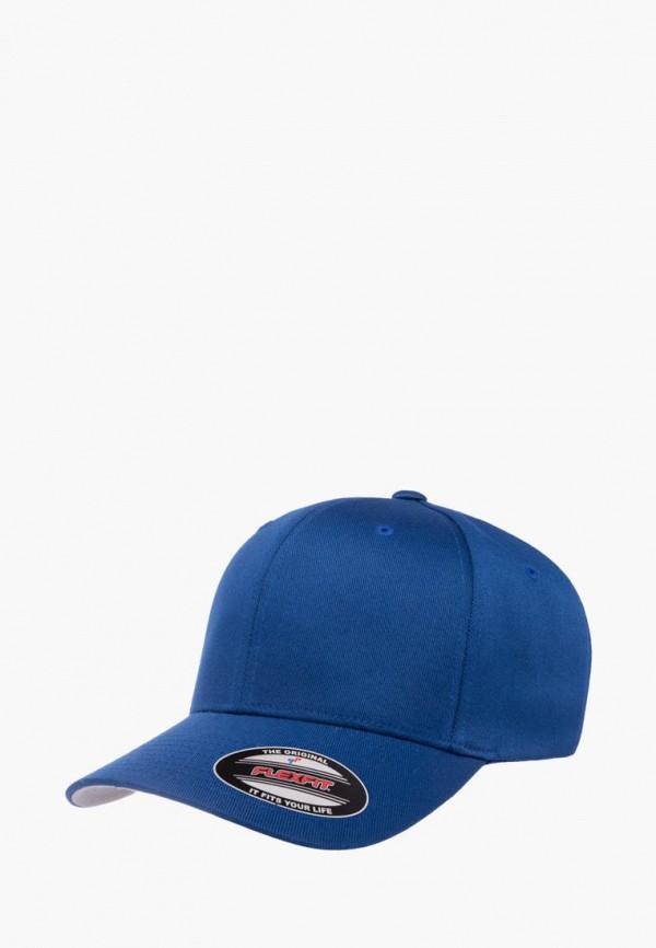 женская бейсболка flexfit, синяя
