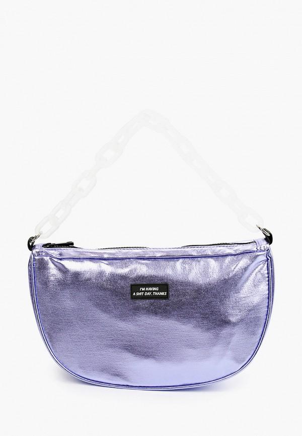 женская сумка с ручками zakka, фиолетовая