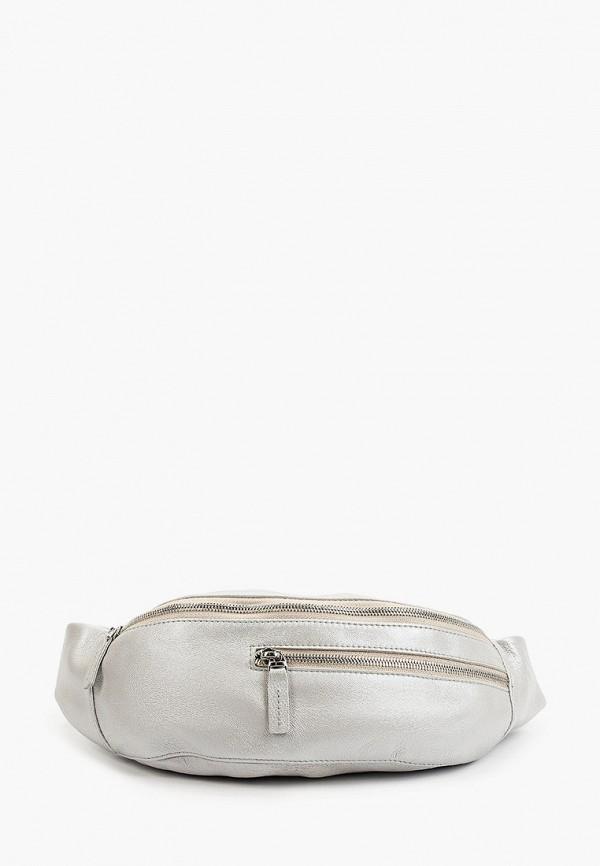 женская поясные сумка qoper, серебряная