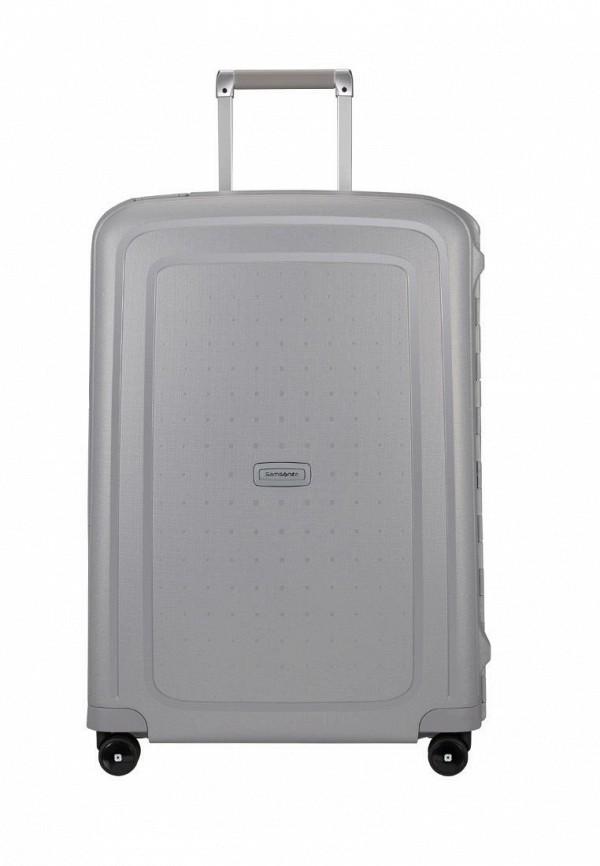 женский чемодан samsonite, серый
