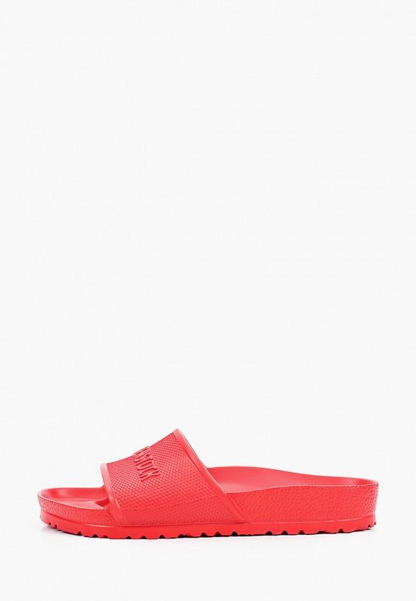 женские сланцы birkenstock, красные