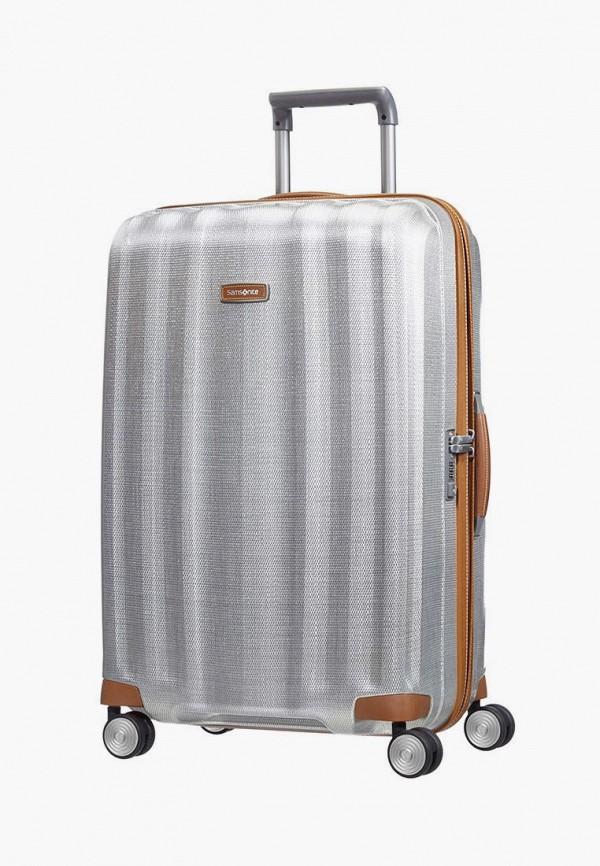 женский чемодан samsonite, серебряный