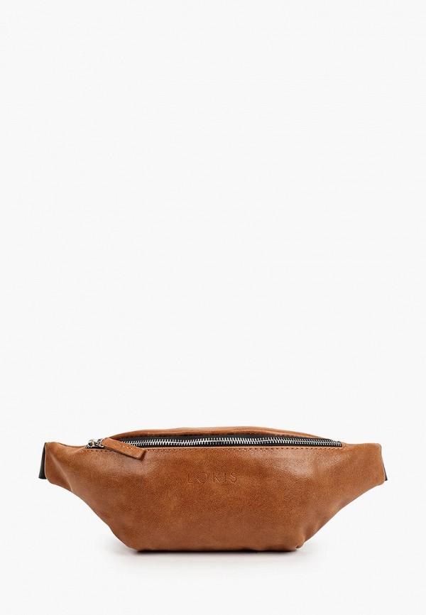 женская поясные сумка lokis, коричневая