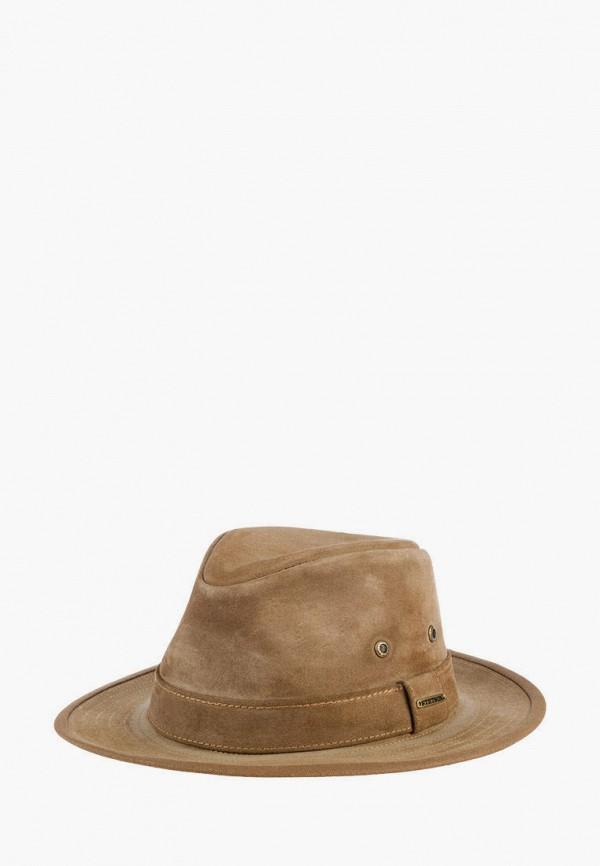 женская шляпа stetson, коричневая