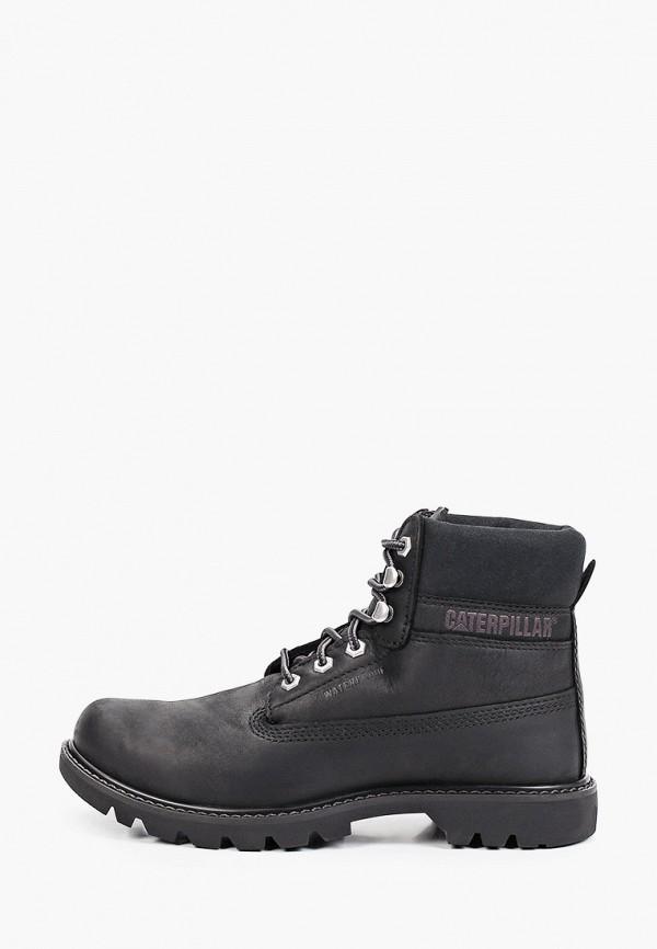 женские высокие ботинки caterpillar, черные