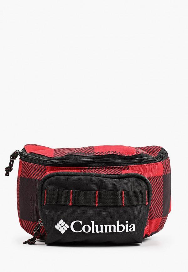 женская поясные сумка columbia, красная