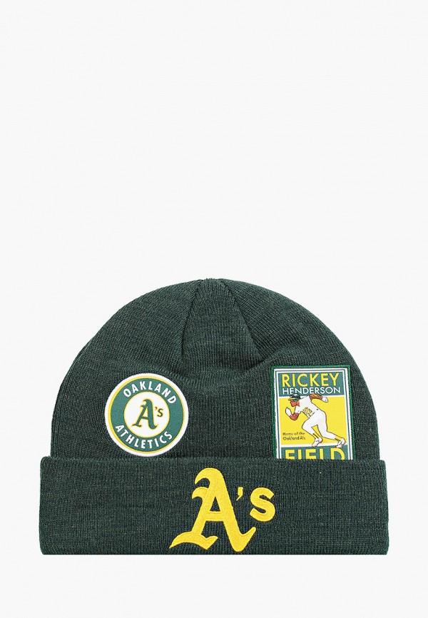женская шапка new era, зеленая
