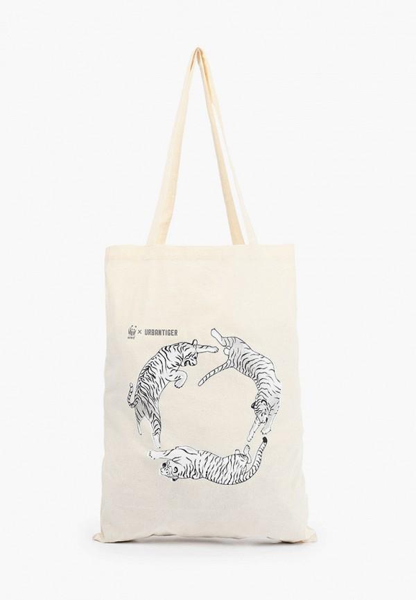 женская спортивные сумка urban tiger, бежевая