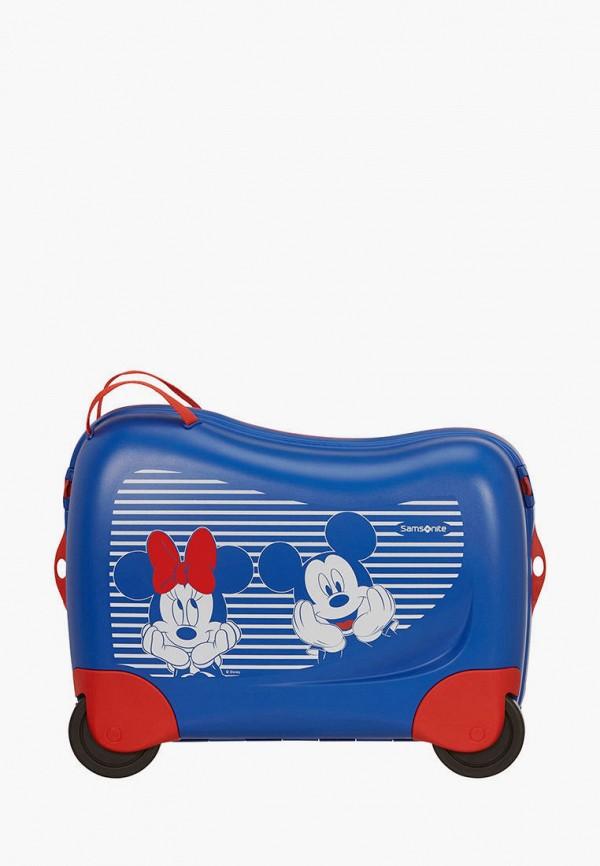 женский чемодан samsonite, синий
