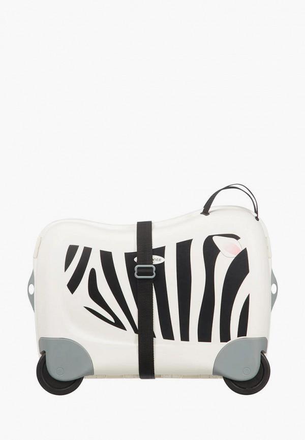 женский чемодан samsonite, белый