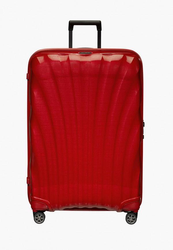 женский чемодан samsonite, красный