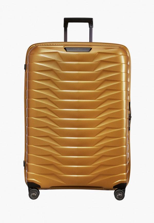 женский чемодан samsonite, золотой