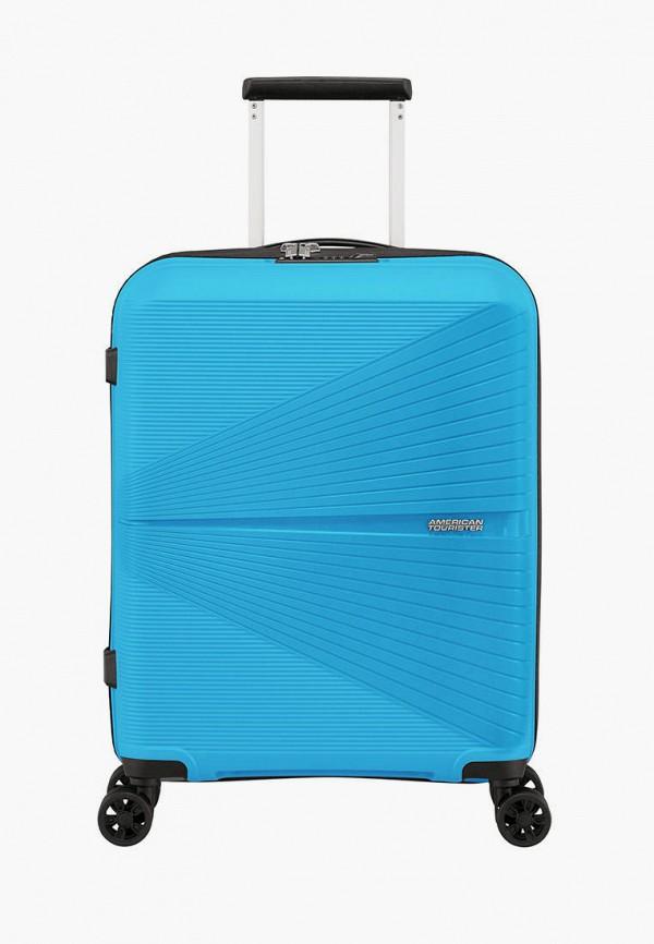 женский чемодан american tourister, голубой
