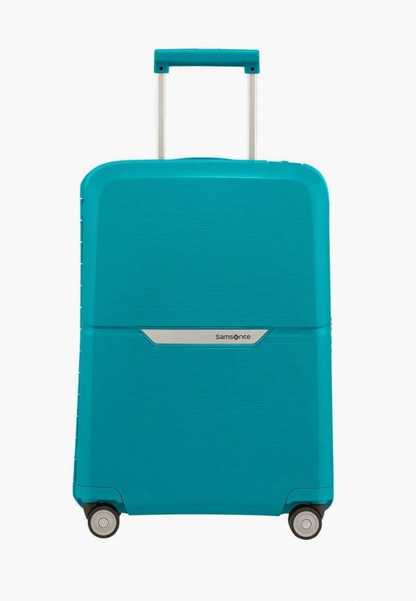 женский чемодан samsonite, бирюзовый