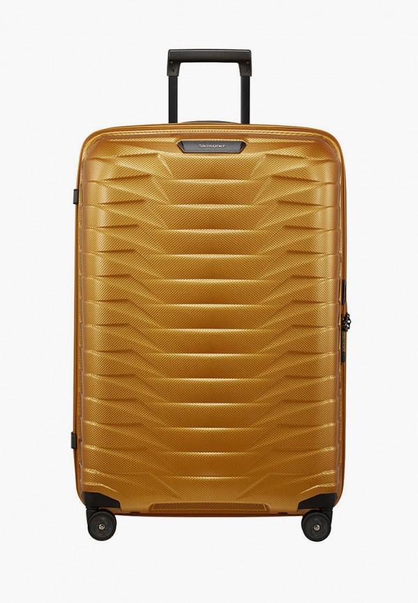 женский чемодан samsonite, желтый