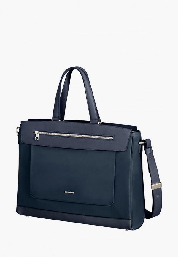 женская сумка с ручками samsonite, синяя