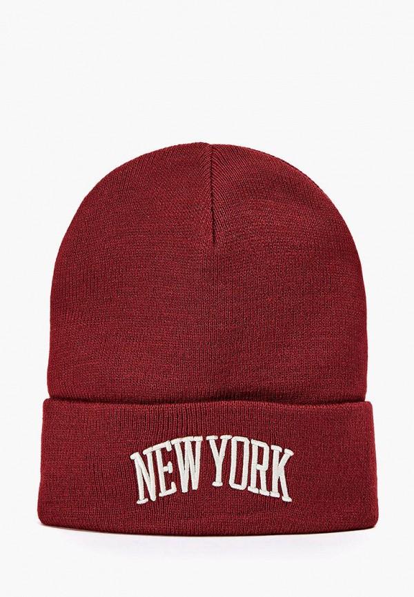 женская шапка terranova, бордовая