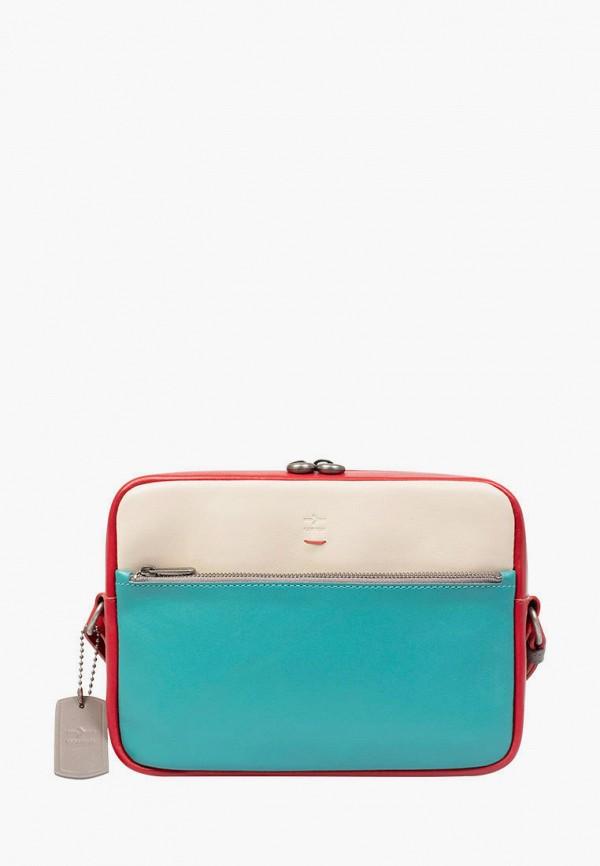 женская сумка через плечо igor york, бирюзовая