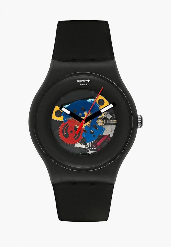 женские часы swatch, черные