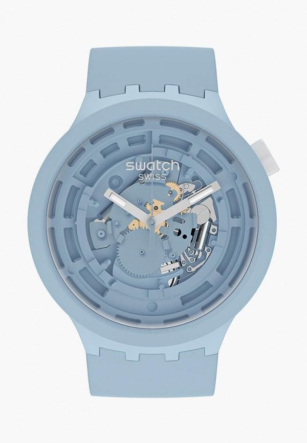 женские часы swatch, голубые