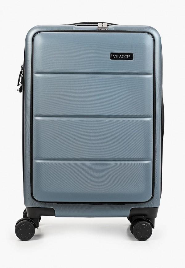 женский чемодан vitacci, синий
