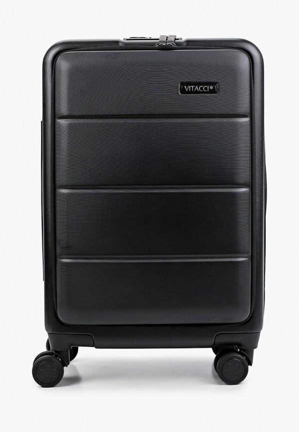 женский чемодан vitacci, черный