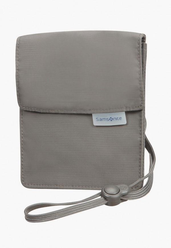 женский кошелёк samsonite, серый