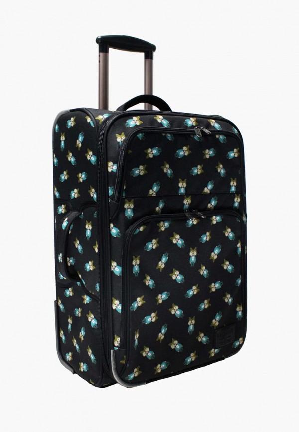 женский чемодан bagland, черный