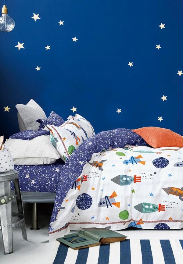 Купить Космонавтика, Постельное белье детское Bellehome, серый, unisex, Весна-лето 2018, Детское постельное белье