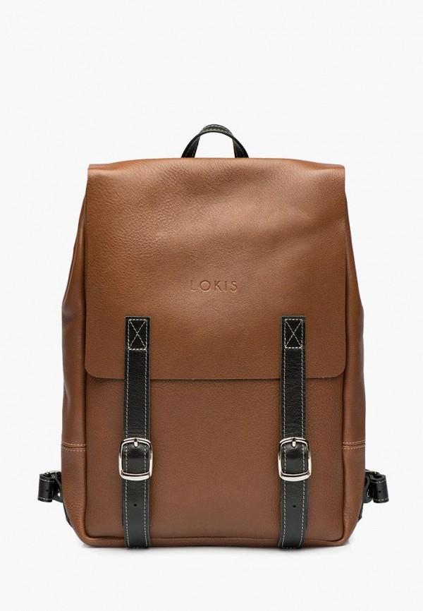 женский рюкзак lokis, коричневый