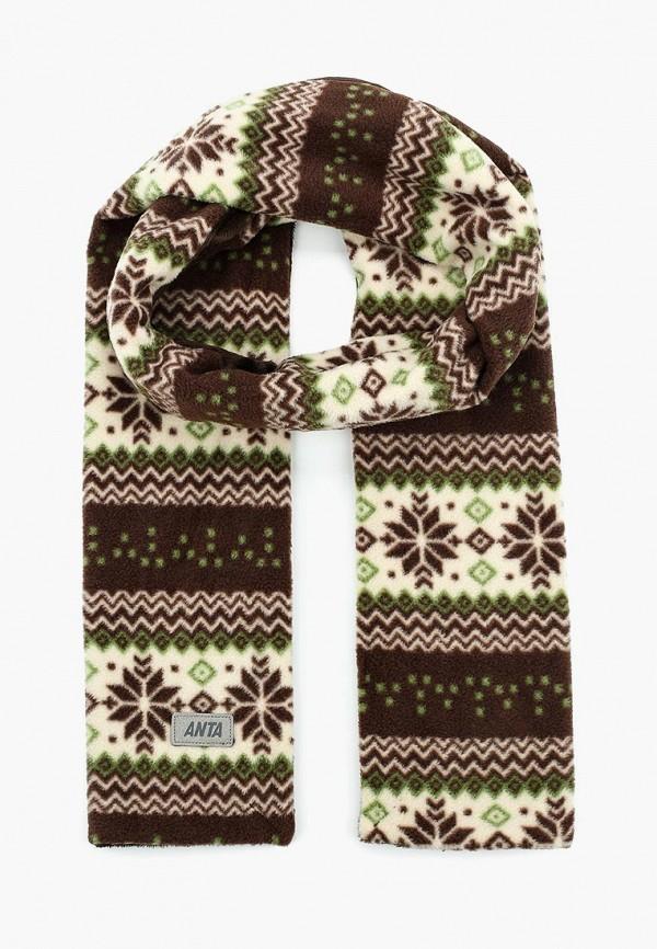 женский шарф anta, коричневый