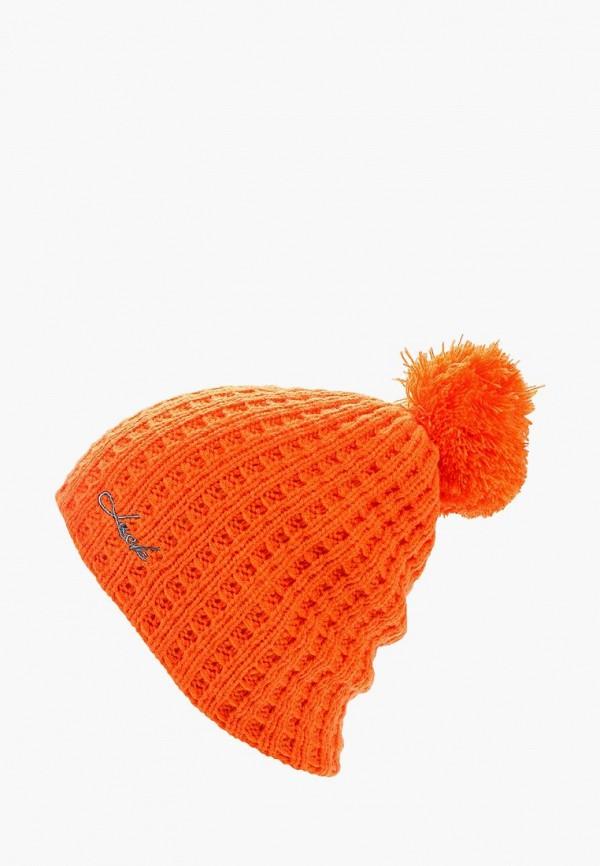 женская шапка anta, оранжевая