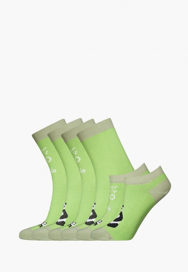 Комплект bb socks bb socks MP002XU0DYJ0 animal embroidery invisible socks 3pairs
