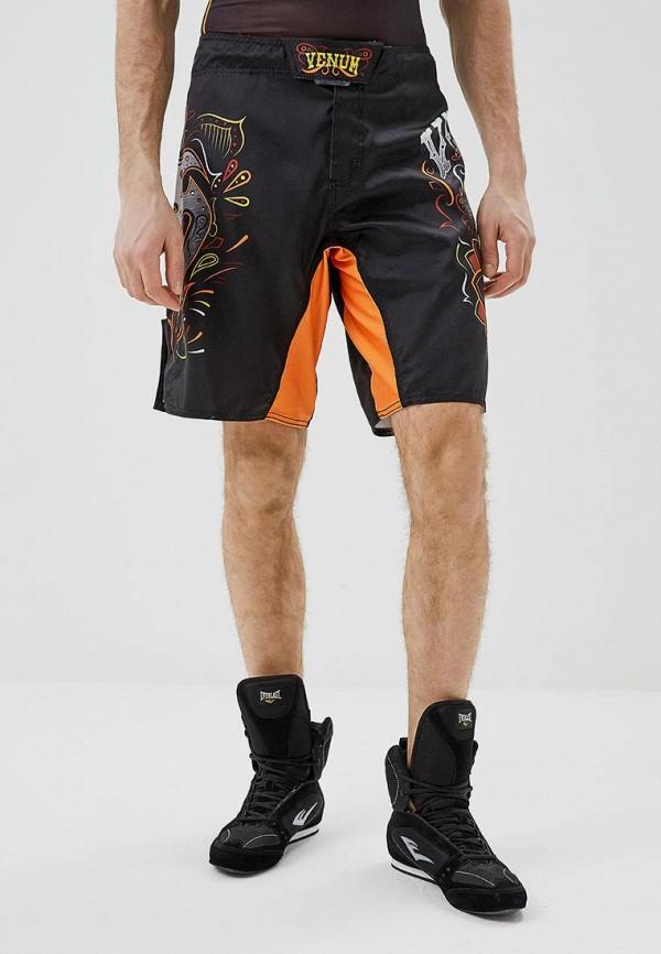 женские спортивные спортивные шорты venum, черные