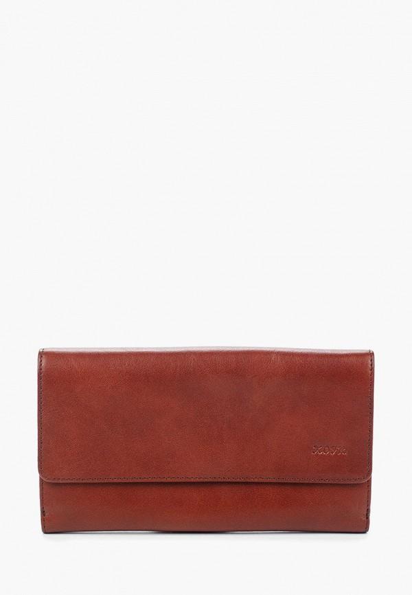 женский кошелёк kofr, коричневый