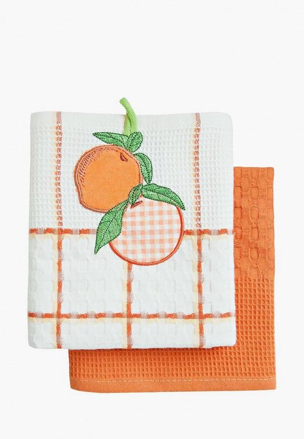 Набор полотенец кухонных Bonita Bonita MP002XU0DYXZ набор полотенец bonita аппликация цвет бежевый зеленый оранжевый 40 х 60 см 3 шт