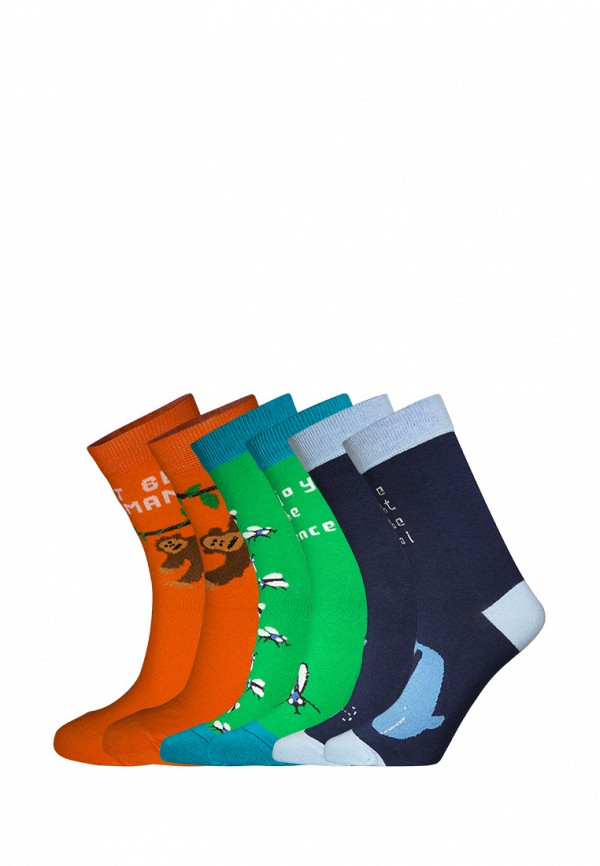 Комплект bb socks bb socks MP002XU0E1FZ animal embroidery invisible socks 3pairs
